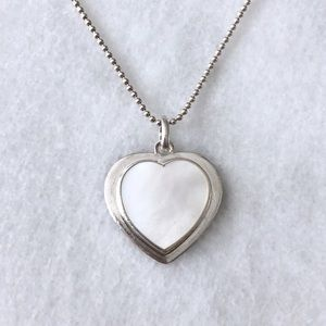 Jewelry - Mother Of Pearl Heart Pendant Sterling Necklace